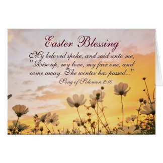 Easter Blessing Song of Songs 2:10 Bible Verse Card