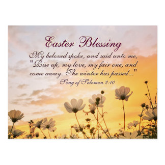 Easter Blessing Song of Songs 2:10 Bible Verse Postcard