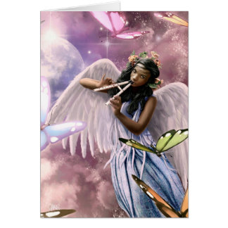 Easter Blessings. Angel with Butterflies Cards