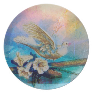EASTER BLESSINGS AT THE WINDOWSILL PLATE