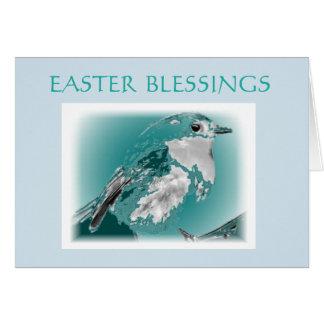 Easter Blessings Powder Blue Bird Card
