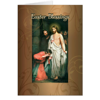Easter Blessings, Resurrection of Jesus by C.Bloch Card