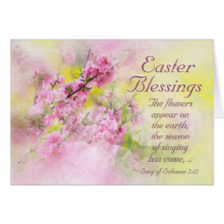 Easter Blessings Song of Solomon 2:12 Scripture Card