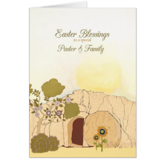 Pastor family gifts pastor family gift ideas on zazzle easter blessings to my pastor amp family empty tomb card negle Gallery