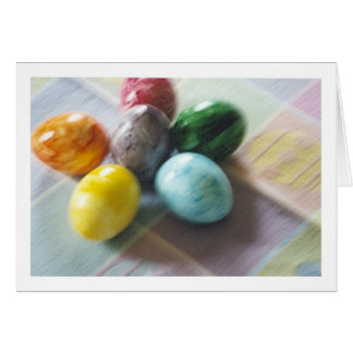 Easter blur card