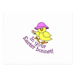 Easter Bonnet Postcard