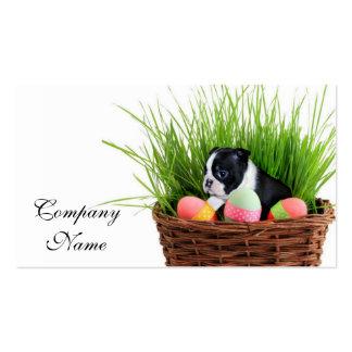 Easter Boston Terrier  dog Business Card