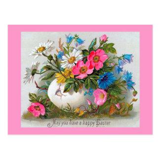 Easter Bouquet Vintage Flowers Postcard