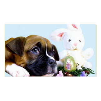 Easter Boxer puppy business cards