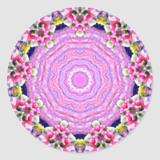 ~ EASTER ~ Bright Abstract Pink Pattern ~ Classic Round Sticker