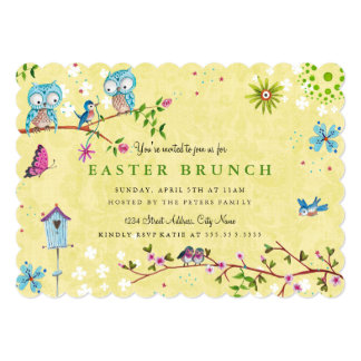 Easter Brunch   Invitations Card