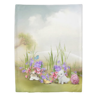 Easter Bunnies (1 side) Twin Duvet Cover
