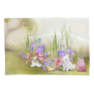 Easter Bunnies (2 sides) Pillowcase