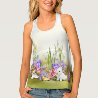 Easter Bunnies All-Over Print Tank Top