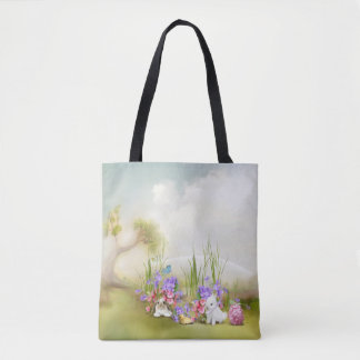 Easter Bunnies All-Over-Print Tote Bag