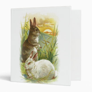Easter Bunnies at Sunrise 3 Ring Binder