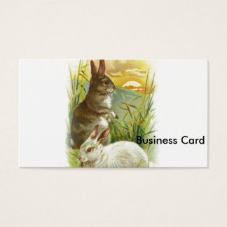 Easter Bunnies at Sunrise Business Card