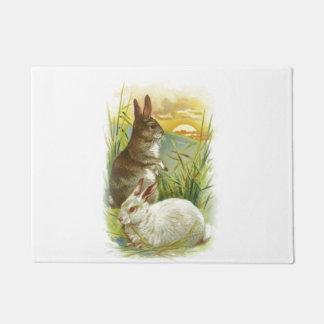 Easter Bunnies at Sunrise Doormat
