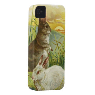Easter Bunnies at Sunrise iPhone 4 Case-Mate Cases