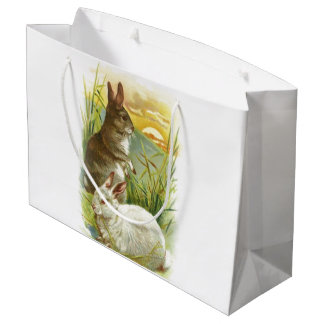 Easter Bunnies at Sunrise Large Gift Bag