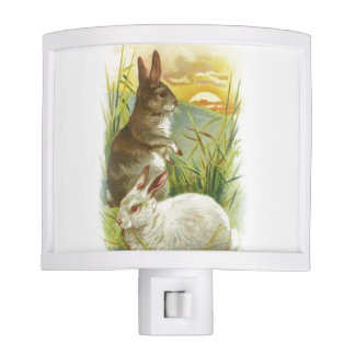 Easter Bunnies at Sunrise Night Light