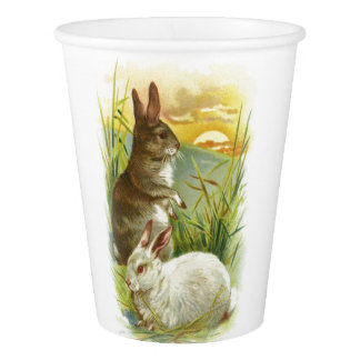 Easter Bunnies at Sunrise Paper Cup