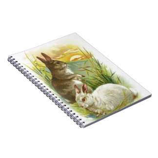 Easter Bunnies at Sunrise Spiral Notebook