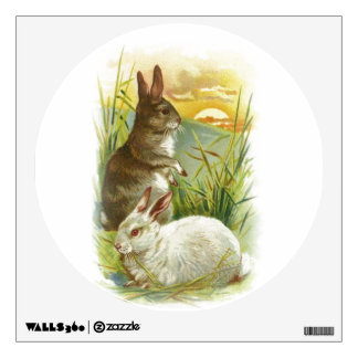 Easter Bunnies at Sunrise Wall Sticker
