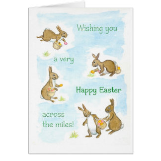 Easter Bunnies Card - across the miles