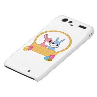 Easter Bunnies Motorola Droid RAZR Covers