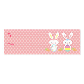 Easter Bunnies Gift Tags Business Card Template