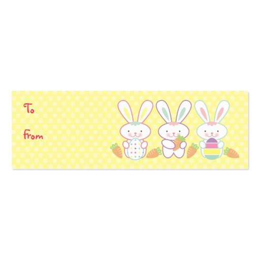 Easter Bunnies Gift Tags Pack Of Skinny Business Cards