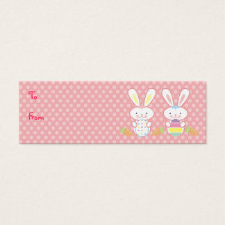 Easter Bunnies Gift Tags Mini Business Card