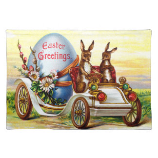 Easter Bunnies in Automobile Placemat