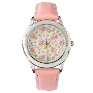 Easter Bunnies in Gingham Wristwatch