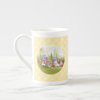 Easter Bunnies Tea Cup