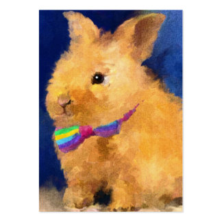 Easter Bunny ACEO Art Trading Cards Large Business Card