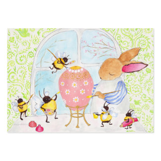 Easter bunny and bees pack of chubby business cards