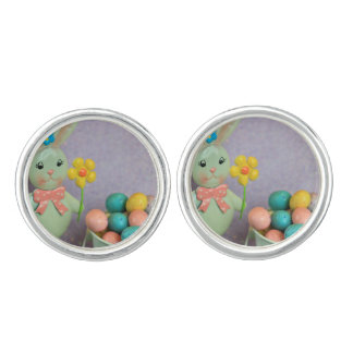 Easter Bunny and candy eggs Cufflinks