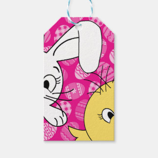 Easter bunny and chick gift tags