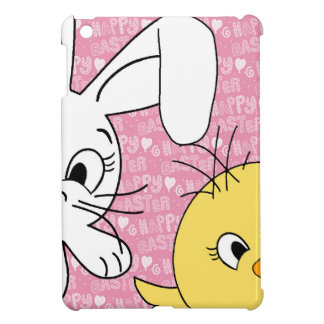 Easter bunny and chick iPad mini covers