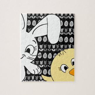 Easter bunny and chick jigsaw puzzle