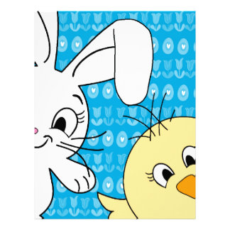 Easter bunny and chick letterhead