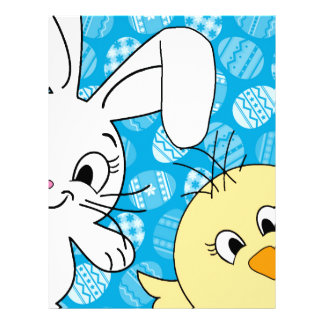 Easter bunny and chick letterhead design
