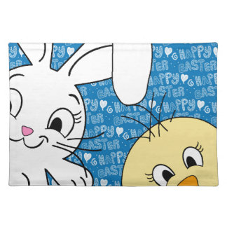Easter bunny and chick placemat