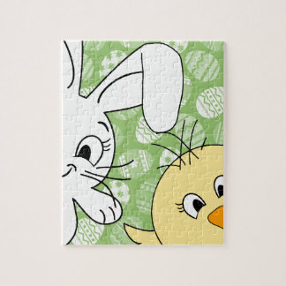 Easter bunny and chick puzzle