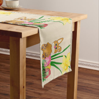 Easter Bunny and Daffodils Holiday Table Runner