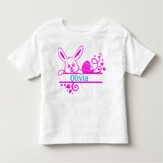 Easter Bunny and Egg Personalized Toddler T-shirt