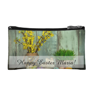 Easter Bunny and Egg Scene Cosmetic Bag