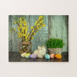Easter Bunny and Egg Scene Jigsaw Puzzle